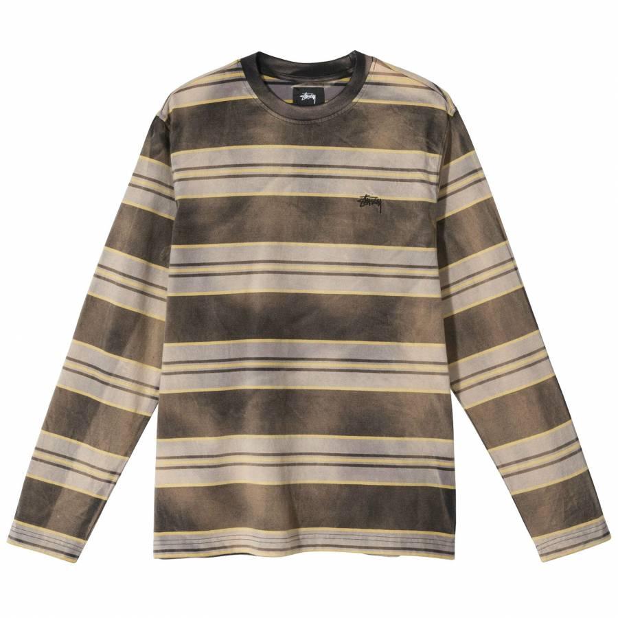 Stussy Bleach Stripe Shirt - Black