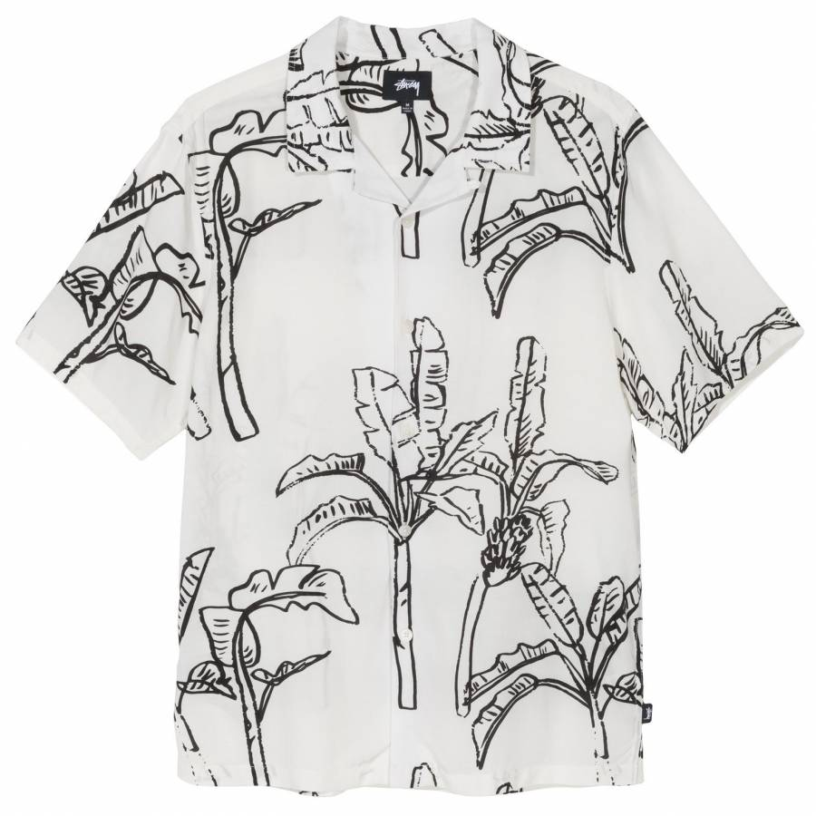 Stussy Banana Tree Shirt - White