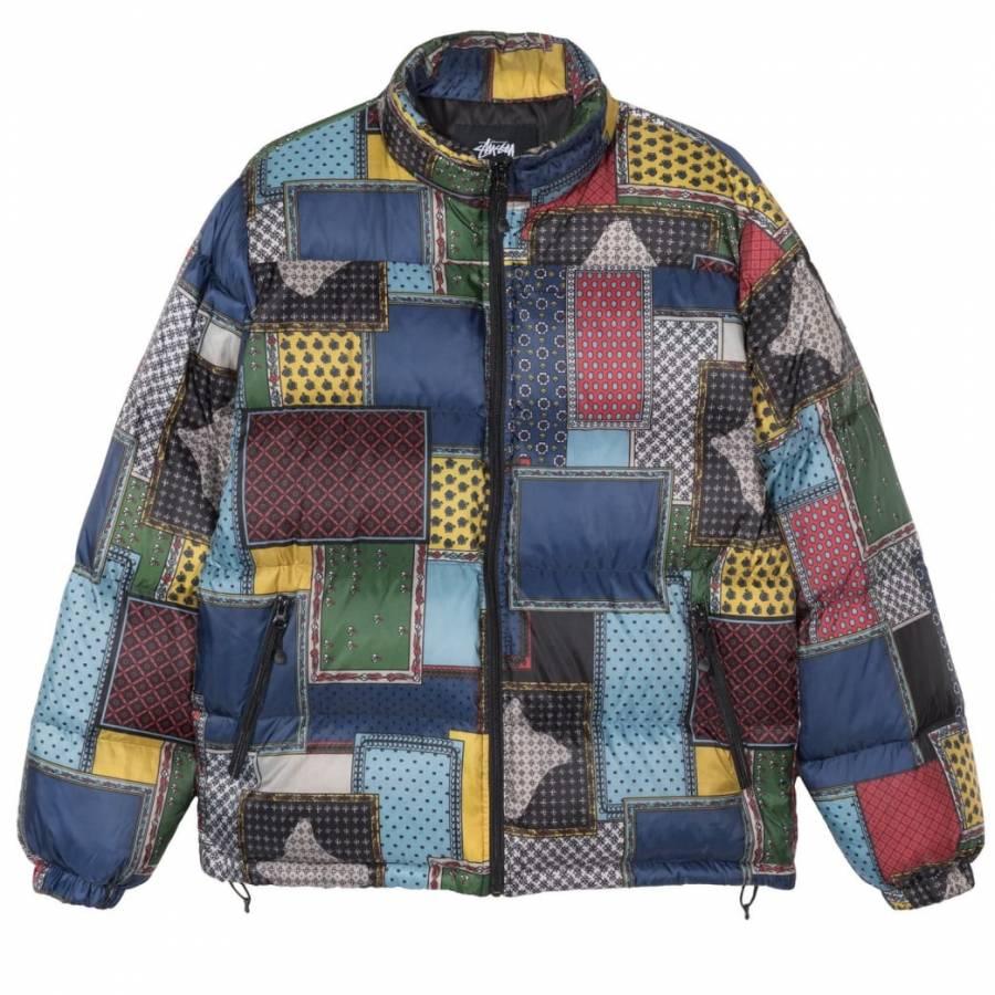 Stussy Patchwork Puffer Jacket - Multi