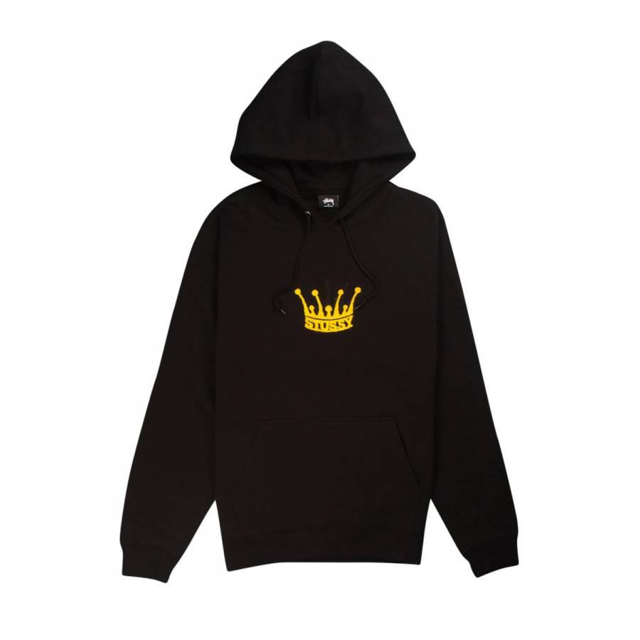 Stussy Chenille Crown Hoodie- Black