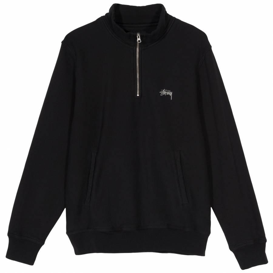 Stussy Stock Fleece Mock- Black