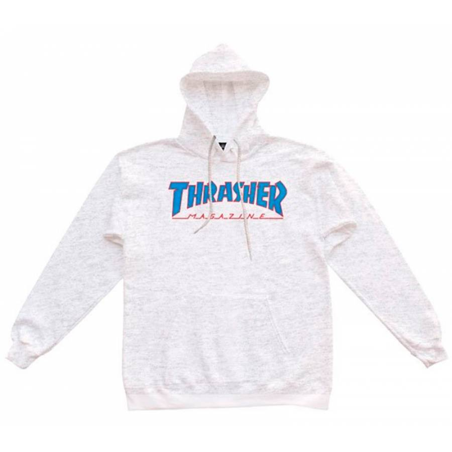 Thrasher Outlined Hoodie - Ash Grey
