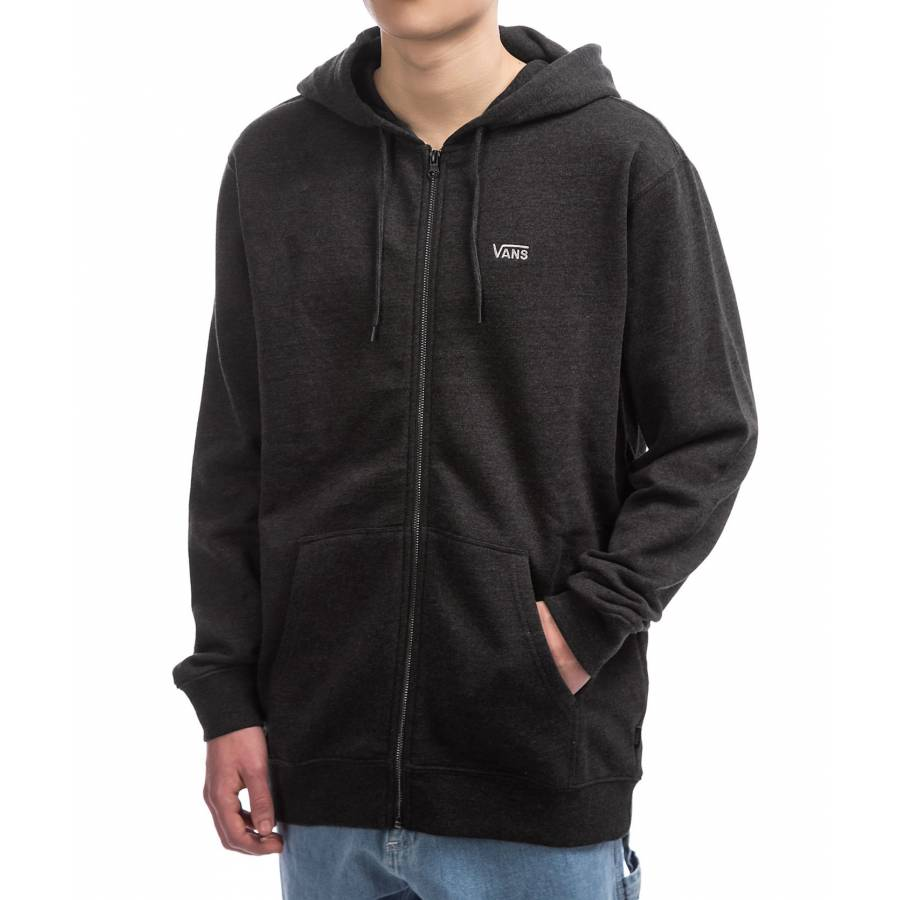 Vans Basic Zip Hoodie Jacket - Black Heather