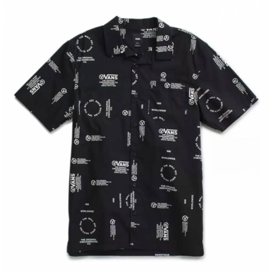 Vans Distortion Aldrich Buttondown Shirt - Black D...