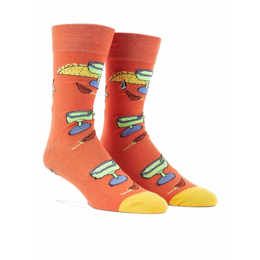 Volcom True Socks - Yellow