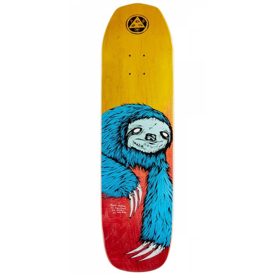Welcome Sloth On Vimana Skateboard Deck - Blue / F...