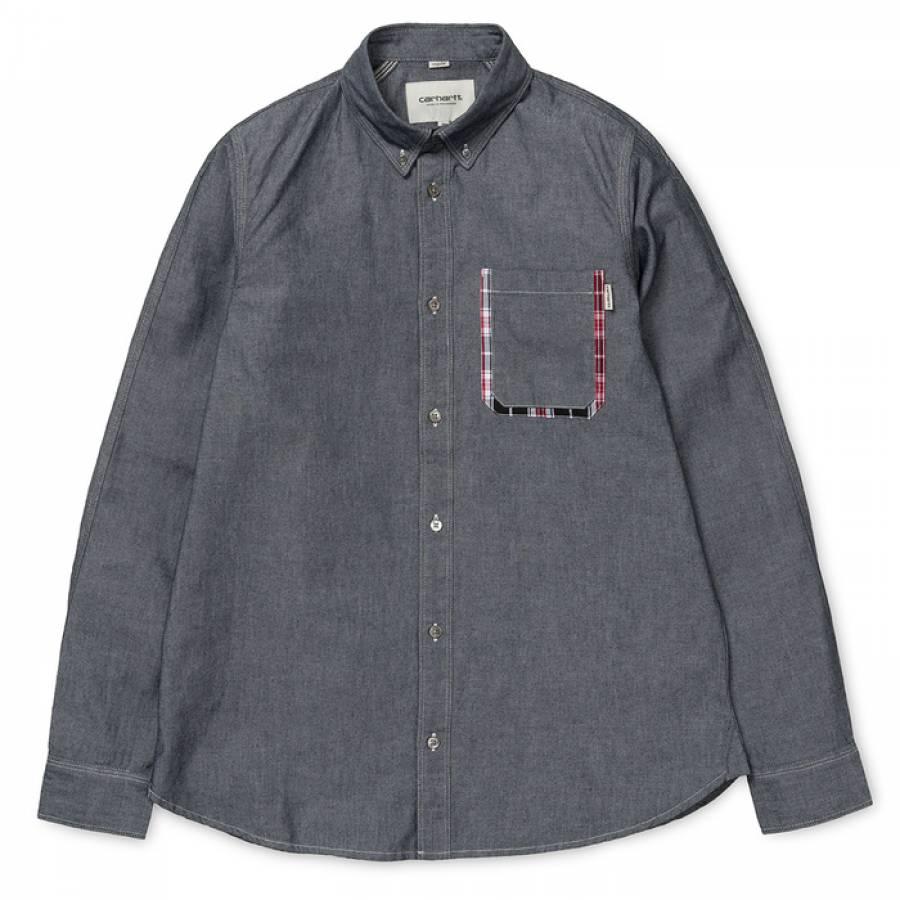 Carhartt L/S Lewis Shirt -  Black / Craig Check, A...