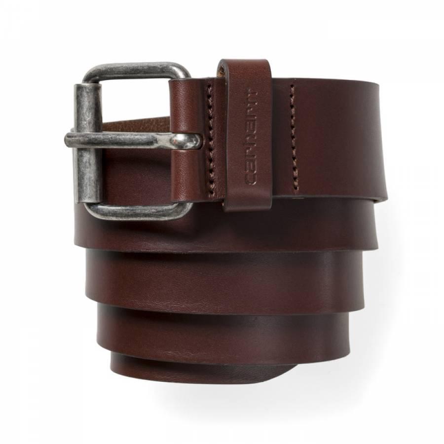 Carhartt Script Belt - Dark Brown / Silver