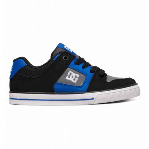 DC BOYS PURE B SHOES - BLACK / BLUE / GREY