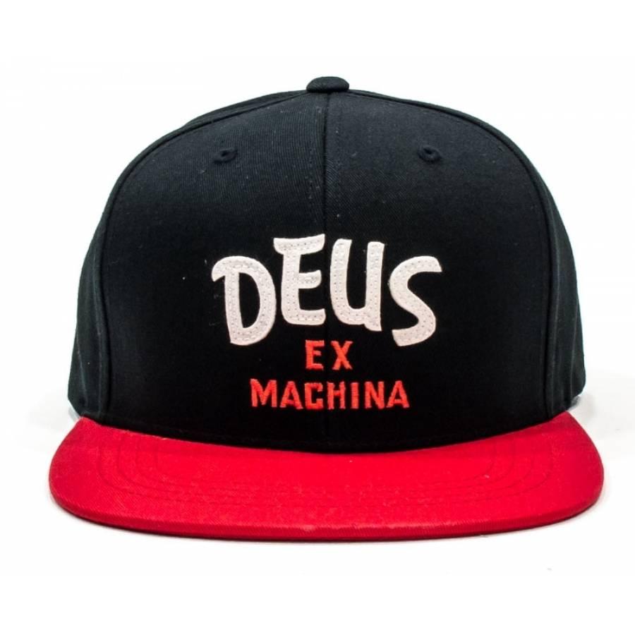 Deus Ex Machina Sketch Brand Cap - Black / Red