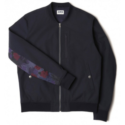 EDWIN BALLER BOMBER - Navy Mixed (Allover Print)