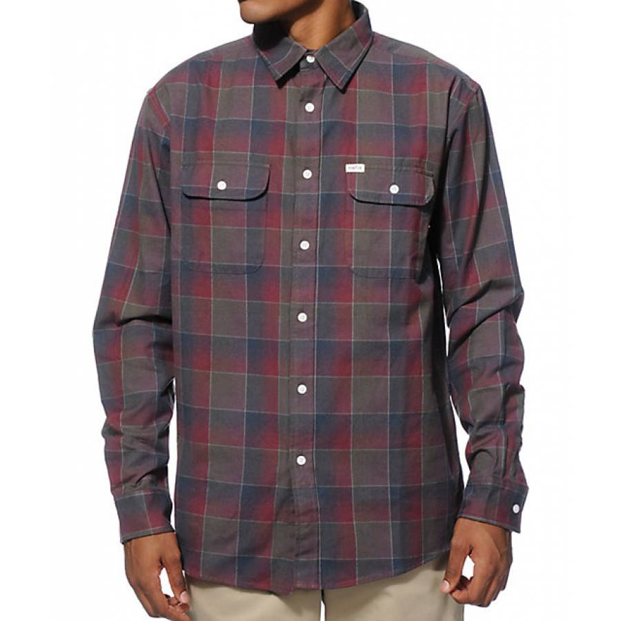 Matix Wesson Flannel Shirt - Navy