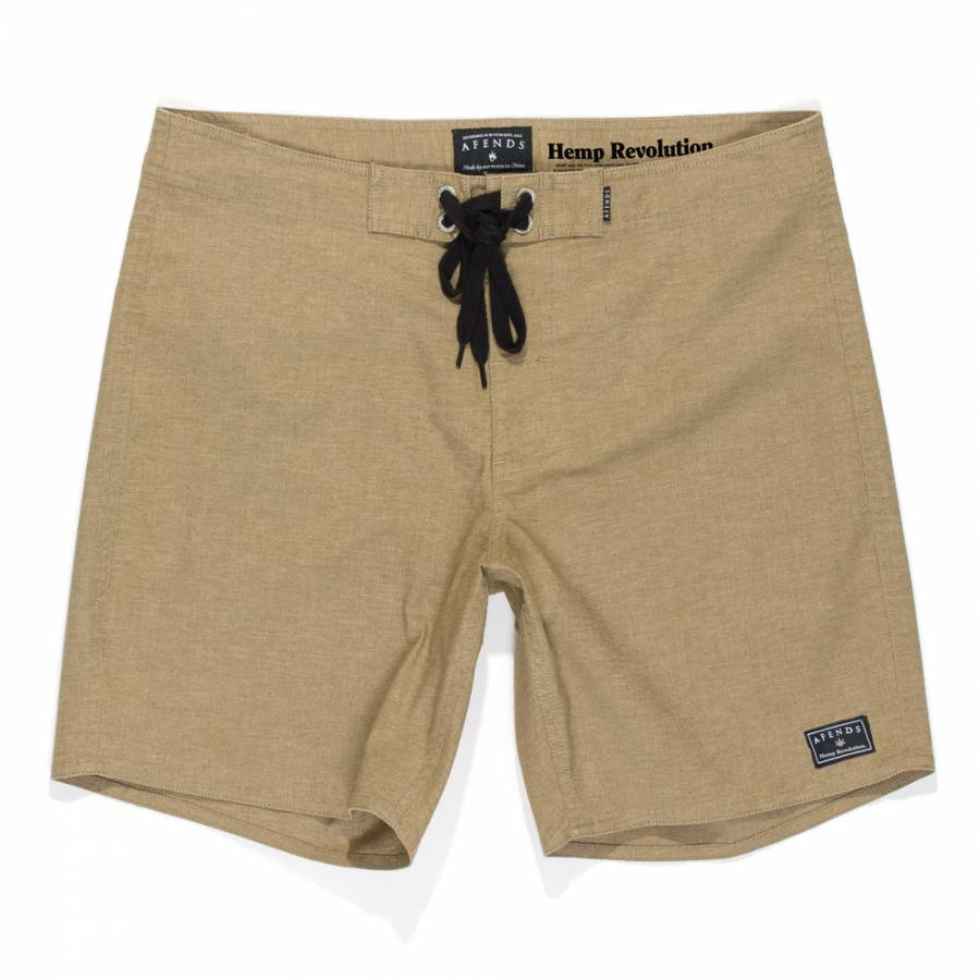 Afends Hemp Trunk Boardshort - Military