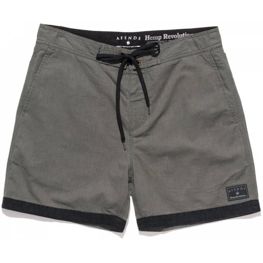 Afends Hemp Trunk Natural Boardshort - Dusty Olive