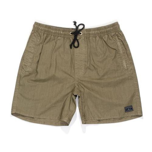 AFENDS BAYWATCH ELASTIC WAIST SWIM SHORTS 15.5&quo...
