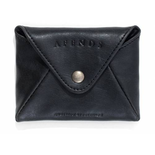 AFENDS HOLDALL POUCH WALLET - BLACK