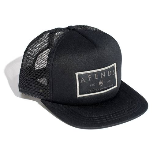 AFENDS BUTTER 'N BREAD TRUCKER CAP  - BLACK