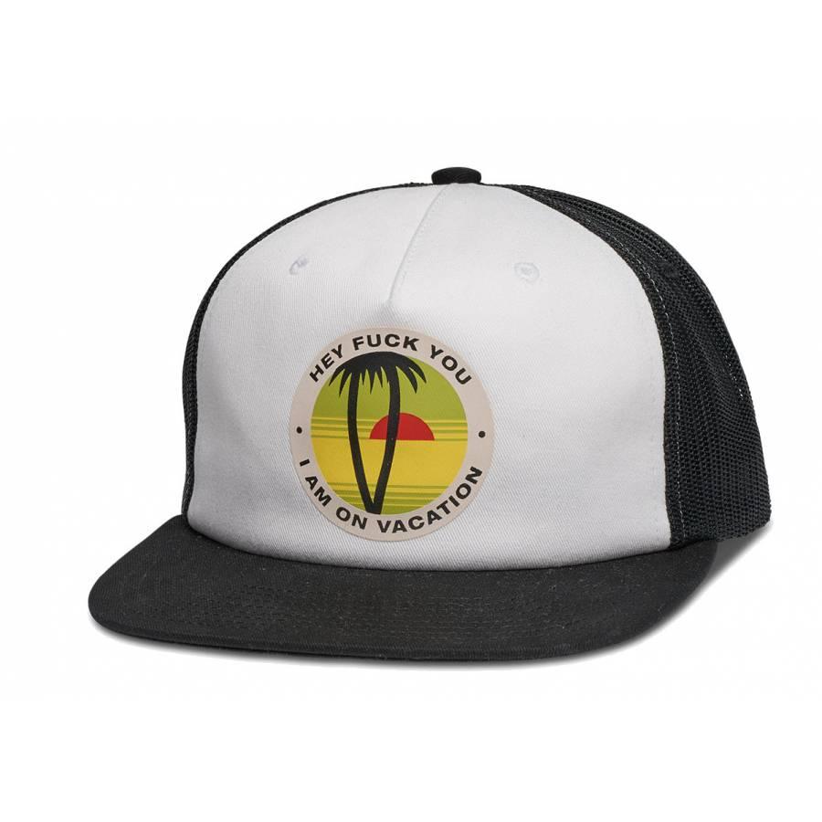 Diamond Vacation Trucker Hat - Black