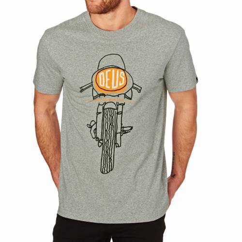DEUS EX MACHINA FRONTAL MATCHLESS TEE - GREY