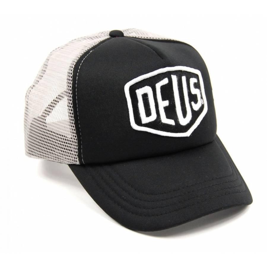 Deus Ex Machina Baylands Trucker Cap - Black / Grey