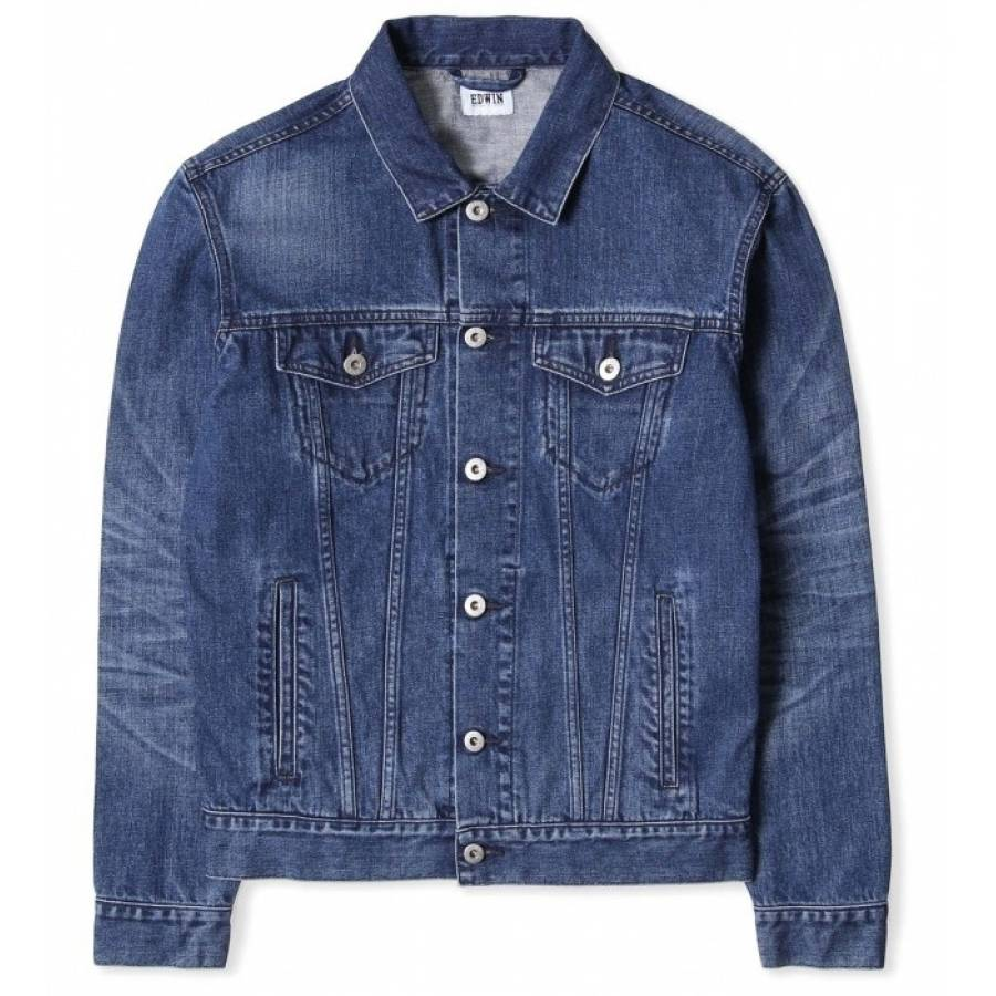 Edwin High Road Jacket - Deep Blue Denim (Mid Slee...