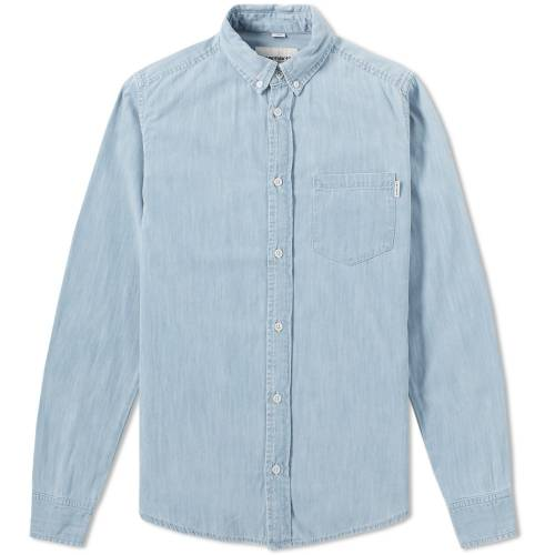 Carhartt L/S Civil Shirt - Blue Stone Bleached
