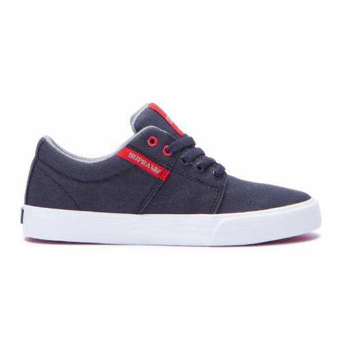 Supra Kids Stacks Vulc II Shoes - Black / Red / Wh...