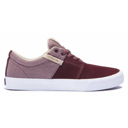 Supra Stacks Vulc Ii Shoes - Mahogany / White