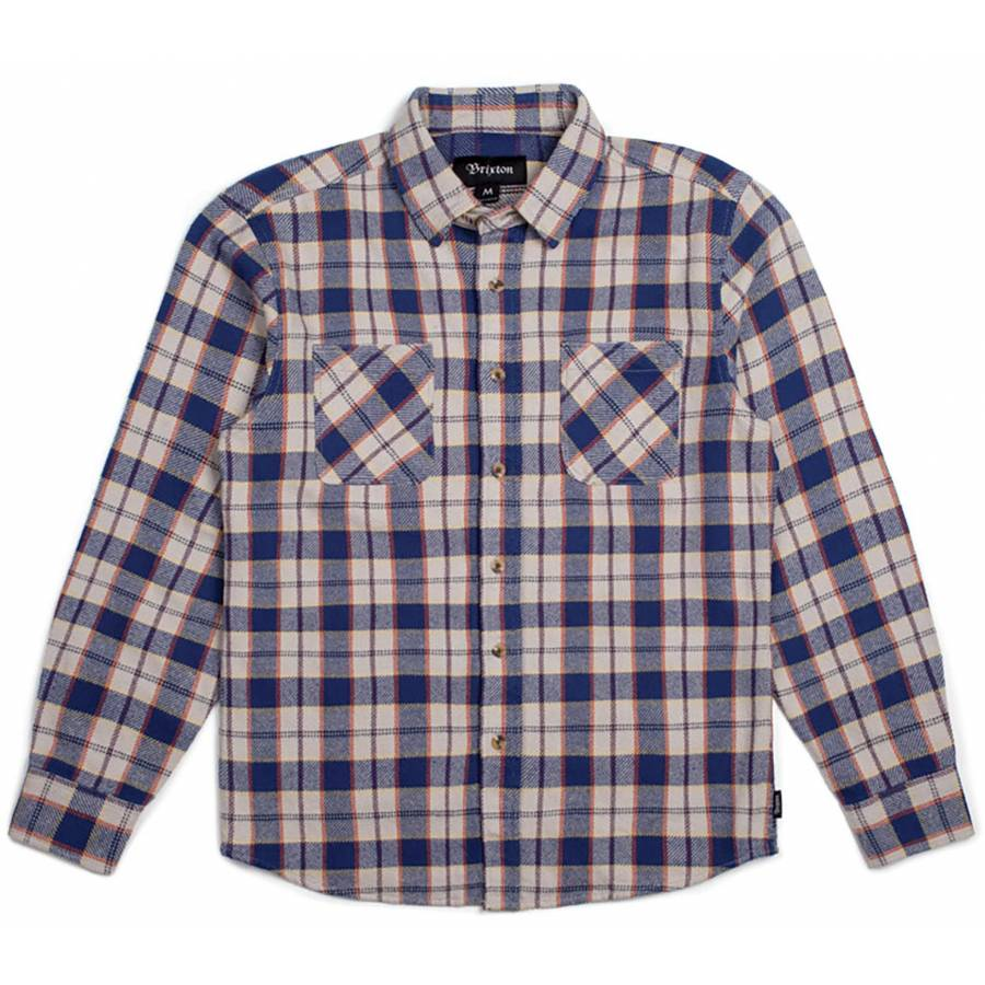 Brixton Hoffman L/S Flannel - Blue / Grey