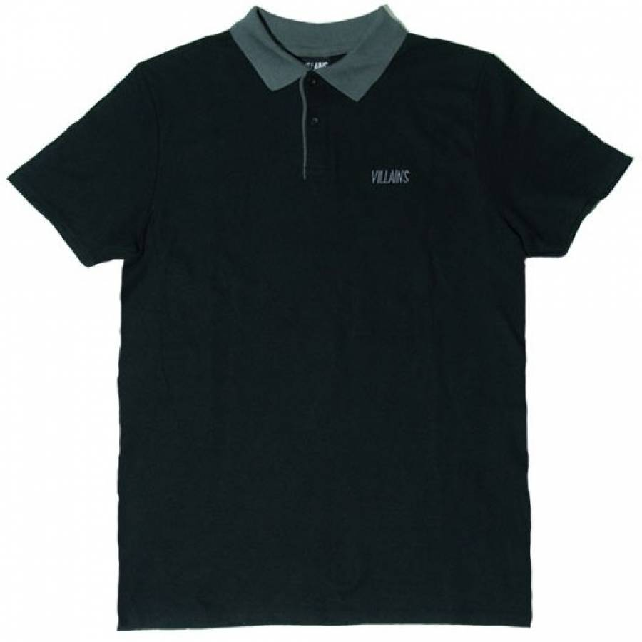 Villains Embroidery Polo - Black / Grey