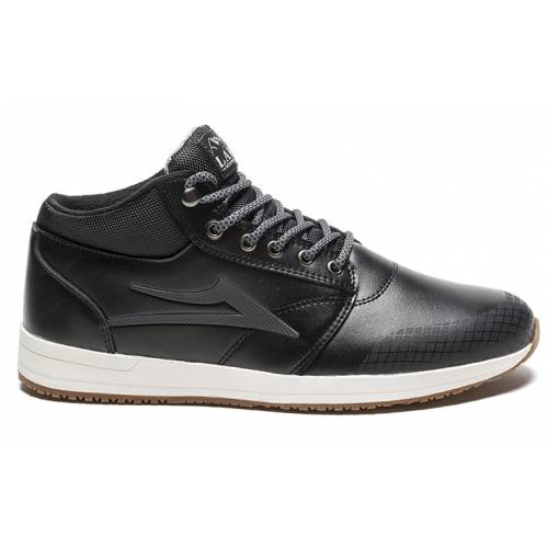 LAKAI GRIFFIN MID WT SHOES - BLACK
