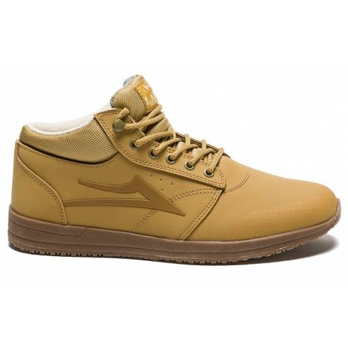 LAKAI GRIFFIN MID WT SHOES - HONEY