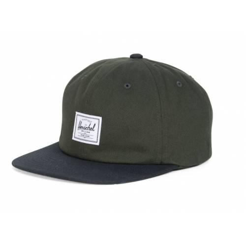 HERSCHEL ALBERT CAP - FOREST NIGHT / BLACK
