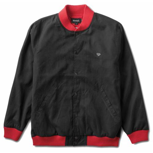 DIAMOND BLACK STADIUM JACKET - BLACK