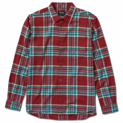 DIAMOND SUPPLY FLANNEL SHIRT - BURGUNDY