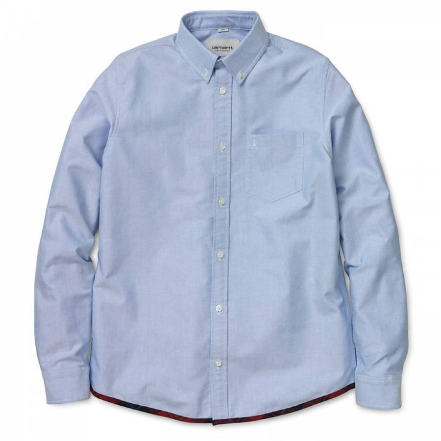 Carhartt L/S Buster Shirt - Sky