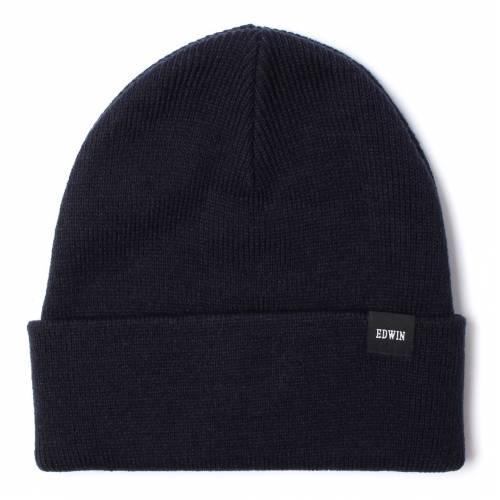 EDWIN WATCH CAP BEANIE - BLACK