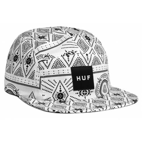 HUF BANDANA VOLLEY FIVE PANEL HAT - White